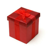 красный цвет подарка коробки Стоковые Фото