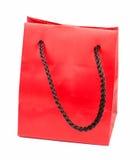 красный цвет подарка мешка Стоковые Фото