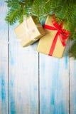 красный цвет подарка рождества коробки Стоковые Фотографии RF