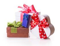 Красный цвет подарочной коробки зеленый Стоковое Изображение RF