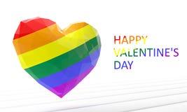 красный цвет поднял Сердце гомосексуально иллюстрация 3d представляет бесплатная иллюстрация