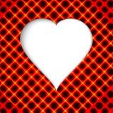 красный цвет поднял Современный конспект с красными сердцами бесплатная иллюстрация
