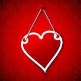 красный цвет поднял Современный конспект с красными сердцами иллюстрация вектора