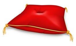красный цвет подушки Стоковое Изображение RF