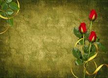 красный цвет праздника карточки поднял Стоковые Изображения RF