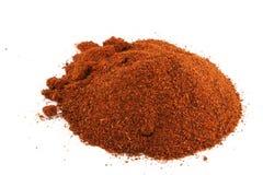 красный цвет предпосылки изолированный chili Стоковое Изображение
