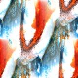 Красный цвет предпосылки настенной росписи безшовный, апельсин, голубая предпосылка картины Стоковая Фотография RF