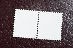 красный цвет предпосылки пустой кожаный штемпелюет 2 Стоковые Изображения