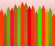 красный цвет предпосылки стрелок Стоковые Фото