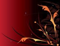 красный цвет предпосылки флористический померанцовый Стоковое фото RF
