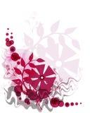 красный цвет предпосылки флористический Стоковое Изображение