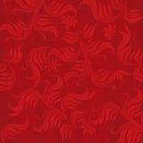 красный цвет предпосылки флористический Стоковая Фотография RF