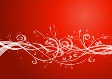 красный цвет предпосылки флористический Стоковое Фото