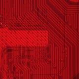 красный цвет предпосылки электронный промышленный Стоковое Изображение