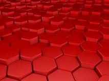 красный цвет предпосылки 3d иллюстрация вектора
