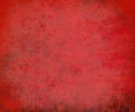 красный цвет предпосылки grungy исчертил текстурировано Стоковая Фотография