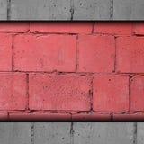 Красный цвет предпосылки, кирпич, камень t конспекта стены блока Стоковое Изображение