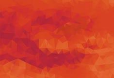 Красный цвет предпосылки полигона запальчиво Стоковые Изображения RF