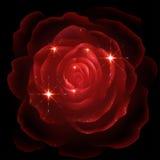 красный цвет предпосылки черный поднял иллюстрация вектора