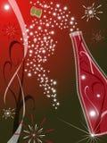 красный цвет приветствию карточки Стоковые Фотографии RF