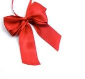 красный цвет приветствию подарка украшения смычка Стоковая Фотография