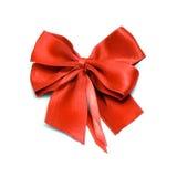 красный цвет приветствию подарка украшения смычка Стоковые Изображения RF