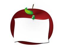 красный цвет примечания яблока Стоковые Изображения RF