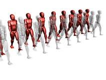 красный цвет принципиальной схемы Стоковые Фото