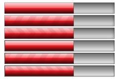 красный цвет прогресса штанг Стоковые Изображения RF
