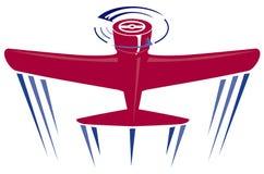 красный цвет пропеллера самолета Стоковая Фотография