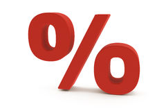 красный цвет процентов 3d Стоковое Фото