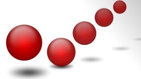 красный цвет прыжока шарика Стоковая Фотография RF