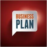 Красный цвет пузыря речи бизнеса-плана Стоковое Изображение RF
