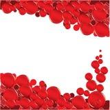 красный цвет пузыря Иллюстрация штока