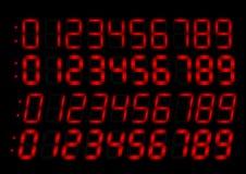 красный цвет радио номеров часов Стоковые Изображения RF