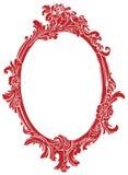 красный цвет рамки декора Стоковое Изображение RF