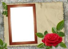 красный цвет рамки предпосылки коричневый поднял Стоковое фото RF