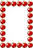 красный цвет рамки яблока Стоковые Фото