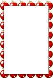 красный цвет рамки яблока Стоковое фото RF