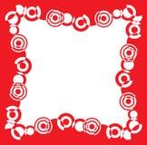 красный цвет рамки Стоковые Изображения