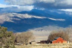 красный цвет ранчо стоковые изображения rf