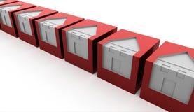 Красный цвет расквартировывает концепцию Стоковые Изображения RF