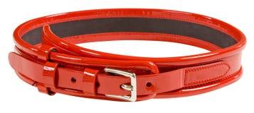красный цвет ременной кожи стоковое изображение