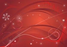красный цвет рождества абстракции Стоковое Изображение