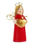 красный цвет рождества ангела Стоковое Изображение