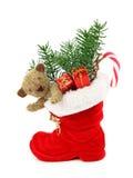 красный цвет рождества ботинка Стоковые Изображения RF