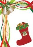 красный цвет рождества ботинка Бесплатная Иллюстрация