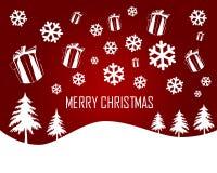 красный цвет рождества веселый Стоковые Фото