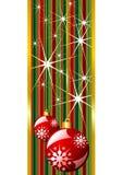 красный цвет рождества знамени иллюстрация вектора