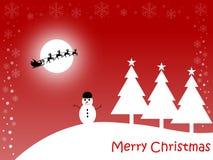 красный цвет рождества карточки веселый Стоковая Фотография